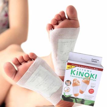 10 قطع جديد kinoki detox foot pads القدم التصحيح الذهب اللون السموم تصحيح القدم أداة العناية السلامة