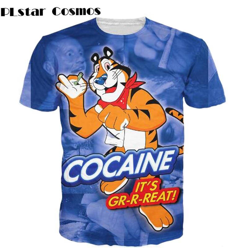 Tony the Tiger T-Shirt vibrant tee drug 3d print t shirt Summer Style Fashion Clothing tops for women men