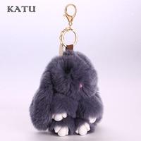 Bunny Keychain Fashion Rabbit Fur Pompoms Handbag Bunny Keychain Key Holder Ring Cute Key Chain For