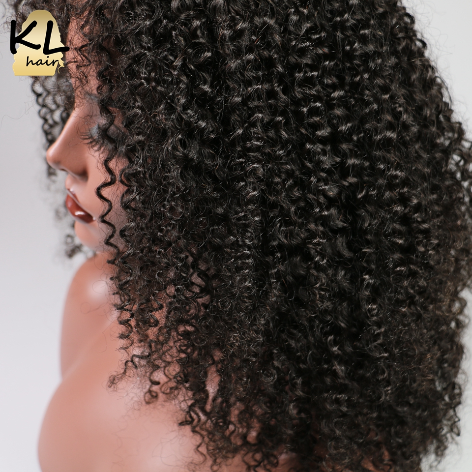 Afro Kinky Curly Full Lace Human Hair Wigs With Baby Hair 150 Density Brazilian Remy Hair