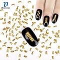 3D Nail Art Украшение Японский Стиль Золотой Прямоугольник 3*5 мм Подвески Дизайн Ногтей Аксессуары PJ443