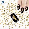 3D Nail Art Decoration Japanese Style Gold Rectangle 3*5mm Design Charms Nails Accessories PJ443