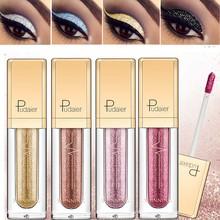New Make Up Liquid Eyeshadow Waterproof Glitter Pigments Purple Gold Metallic Women Beauty Gel Eye Shadow Cream 18 Colors Makeup цена