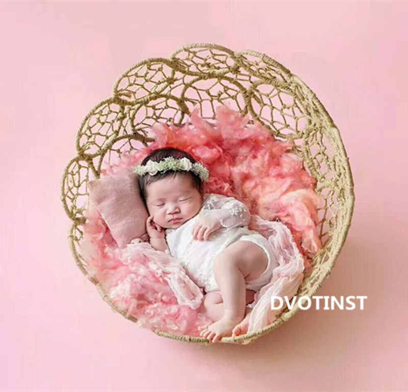 Dvotinst Baby Photography Props Iron Basket Frame Accessory Fotografia Accessories Infantil Toddler Studio Shooting Photo PropsDvotinst Baby Photography Props Iron Basket Frame Accessory Fotografia Accessories Infantil Toddler Studio Shooting Photo Props