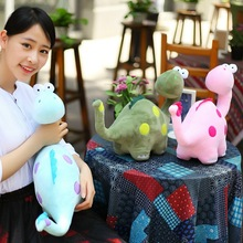 1pcs 30cm cute new plush dinosaur toy cartoon spots pink dinosaurs doll gift kids toy