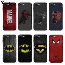 Yinuoda Marvel Deadpool Captain America iron Man Soft Case Cover For iphone 5 5S SE 7 7plus X 8 8plus 6s 6 6plus X XS XR XS Max ruicaica marvel avengers widow hulk iron man spider man film phone case for iphone x xs max 6 6s 7 7plus 8 8plus 5 5s se xr 10