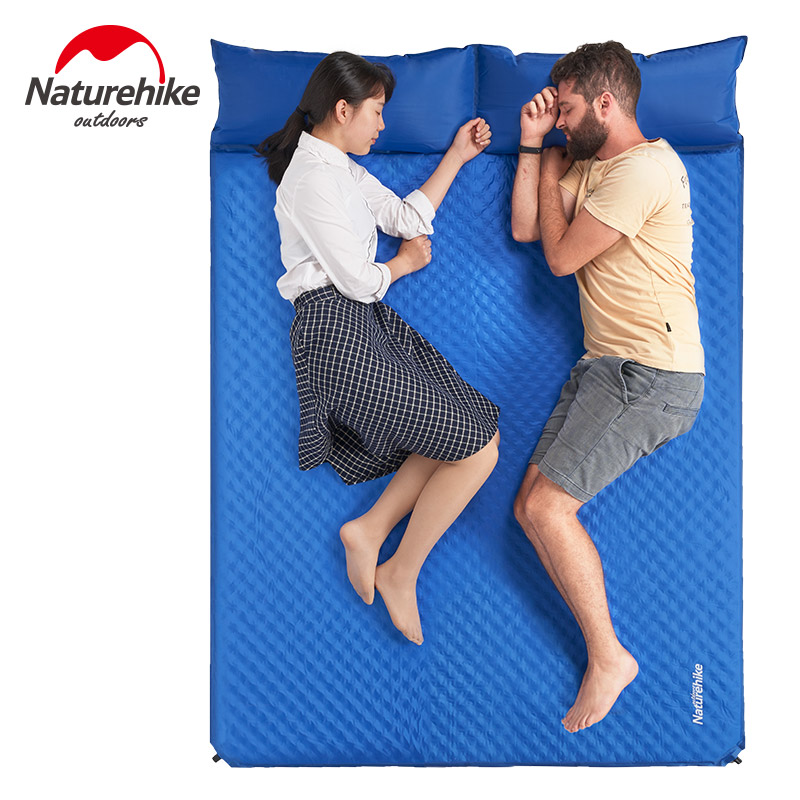 Naturehike Ultralight 2 Person Automatic Inflatable Mattress Outdoor Camping Mat Pad Self-Inflating Picnic Tent Mat with Pillow все цены