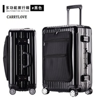 CARRYLOVE Business 20/24/26/28 size Multifunction PC aluminum frame Rolling Luggage Spinner brand Travel Suitcase