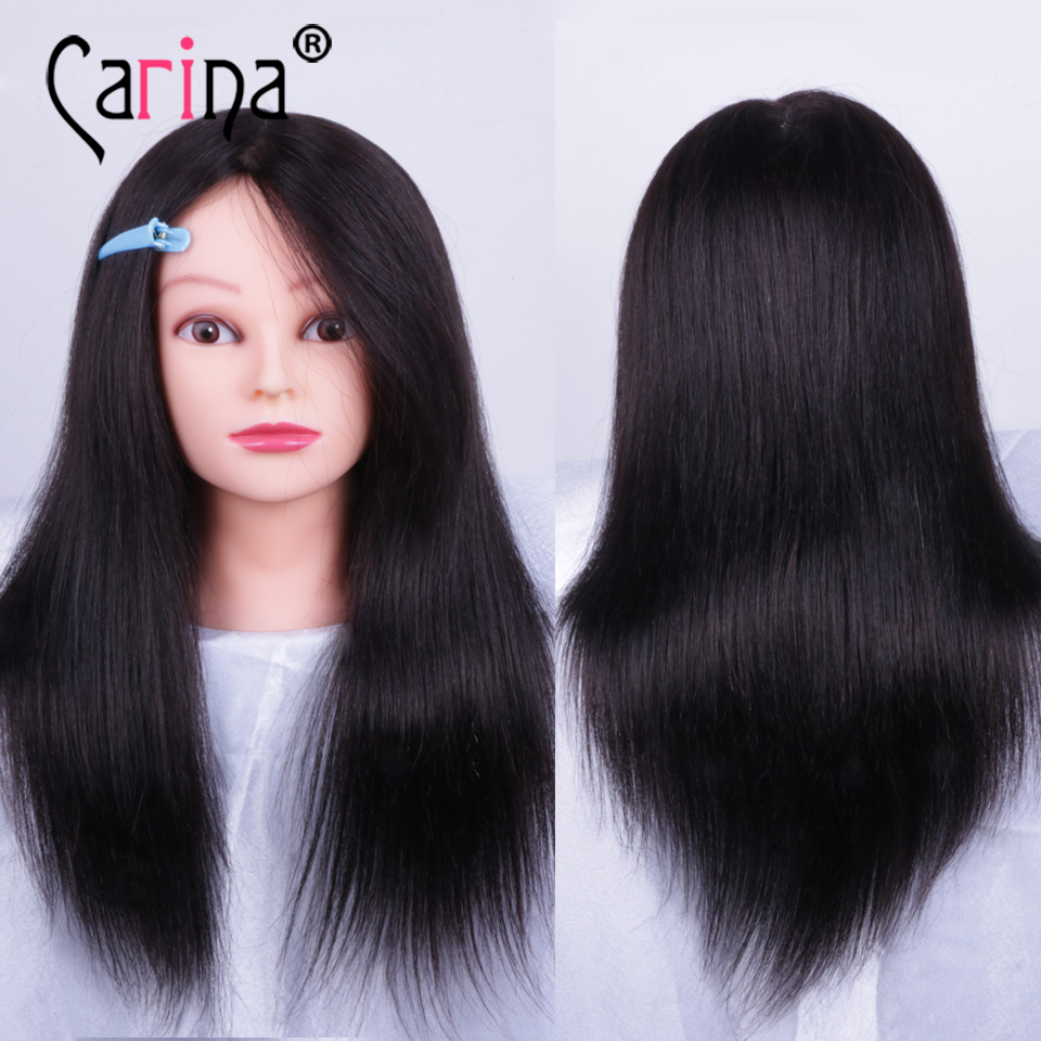 18 quot 100 natural hair Mannequin Head For Wig Professional Styling Head for hairstyles Doll With Hair Doll Hairstyles Mannequins in Mannequins from Home amp Garden