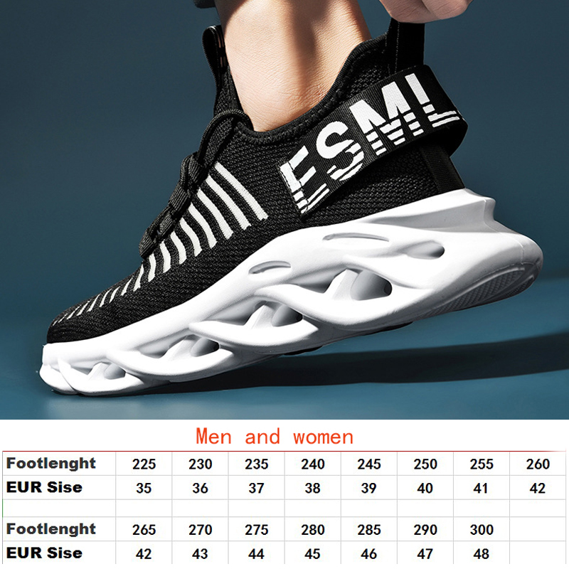 Breathable blade running shoes new men 39 s comfortable large size sports shoes brand outdoor ultra light breathable sports shoes in Running Shoes from Sports amp Entertainment