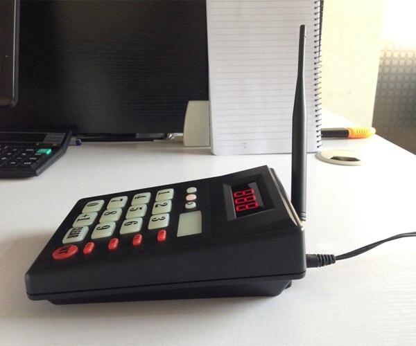 Système de client d'appel de cuisine pour ramasser le clavier de nourriture avec l'écran à 2 chiffres montrent 999 personnes (2 affichage + 2 clavier d'émetteur) - 5
