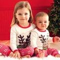 2017 nuevo navidad niñas ropa de los cabritos de la historieta ropa para niños bebés de regalo de navidad christmas party dress 2-9y