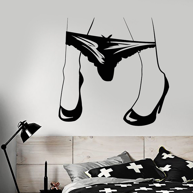 Vinyl Wall Decal Sexy Hot Girl Legs Thong Get Naked Underwear Stickers f52a5248db4b