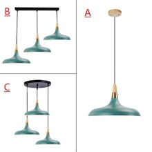 Green Pendant Light For Kitchen Island Office Modern Ceiling Lamp Large Lighting Fixtures Bedroom Lights Bar Wood  Pendant Lamps kitchen island lamps modern ceiling lamp vintage bar pendant lights loft wrought aluminum metal lighting fixtures for one pic