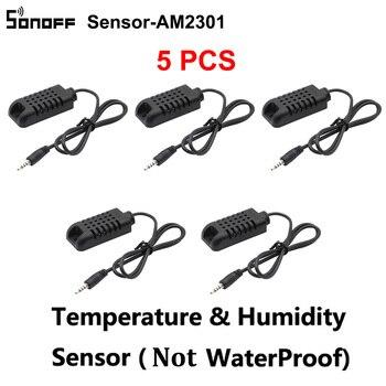 5PCS/Lot Sonoff Sensor AM2301 Temperature Humidity Sensor DS1820 Temperature Probe Module High Accuracy Sensor Sonoff TH16 TH10 Home Automation Modules
