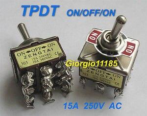 5 шт. tpdt ON/OFF/на промышленных переключения Настенные переключатели 303 тройной двухпозиционное