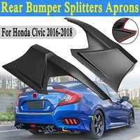2Pcs Rear Bumper Side Splitters Lip Apron Valance For Honda for Civic 2016 2018 JDM