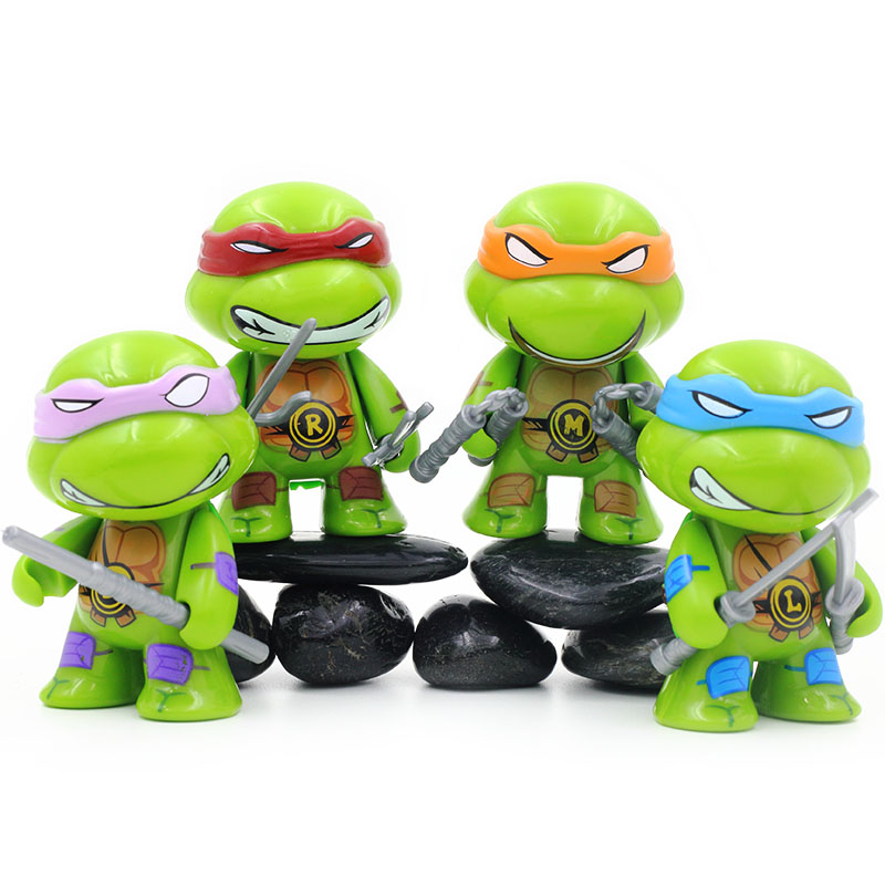 E Four Cute Car Ornament Tmnt Ninja Baby Cartoon Characters Doll Decoration Cars Pvc Green Material Lovely Accessories For Cars Aliexpress Com Imall Com