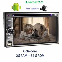 """Camera+Android 6.2"""" car audio Radio Octa-core Android 7.1 CD DVD Player in Dash Headunit GPS Navigation Bluetooth OBD Wifi 4G"""