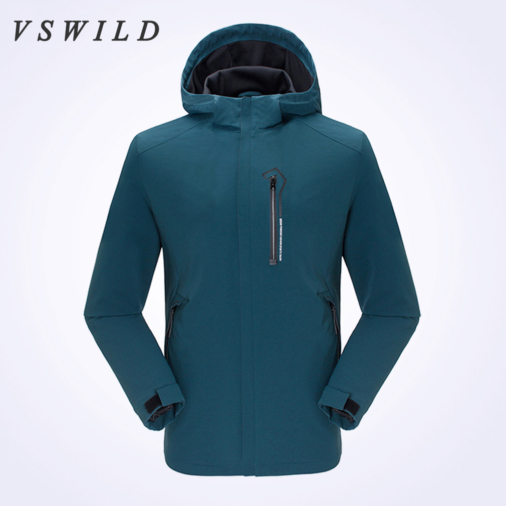 Winter Men Camping Coats Waterproof Windbreaker Outdoor  Jackets Breathable Mountaineering Clothing Outdoor Hunt Solid Clothes