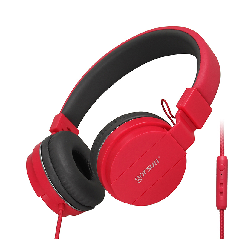 Gorsun GS779 Headphones With Microphone Volume control Over Ear Headsets Bass Sound Music for PC Phone in Phone Earphones Headphones from Consumer Electronics