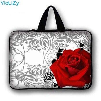 print rose 7 10 12 13 14 15 17 inch Laptop bag custom logo Notebook sleeve briefcase Handbag tablet case cover PC pouch LB-9387 custom laptop bag tablet case 7 9 7 12 13 3 14 1 15 6 17 3 inch notebook sleeve pc cover for macbook pro 13 15 retina ns 15111