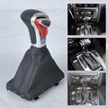 For Audi A3 A4 A5 A6 Q7 Q5 2004~2010 2011 2012 2013 2014 2015 New Silver Automatic AT Shift Knob + Black PU Leather Gaiter