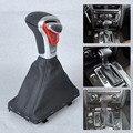 Para Audi A3 A4 A5 A6 Q7 Q5 2004 ~ 2010 2011 2012 2013 2014 2015 Nova Prata Automático NO Botão Shift + Preto de Couro PU Gaiter