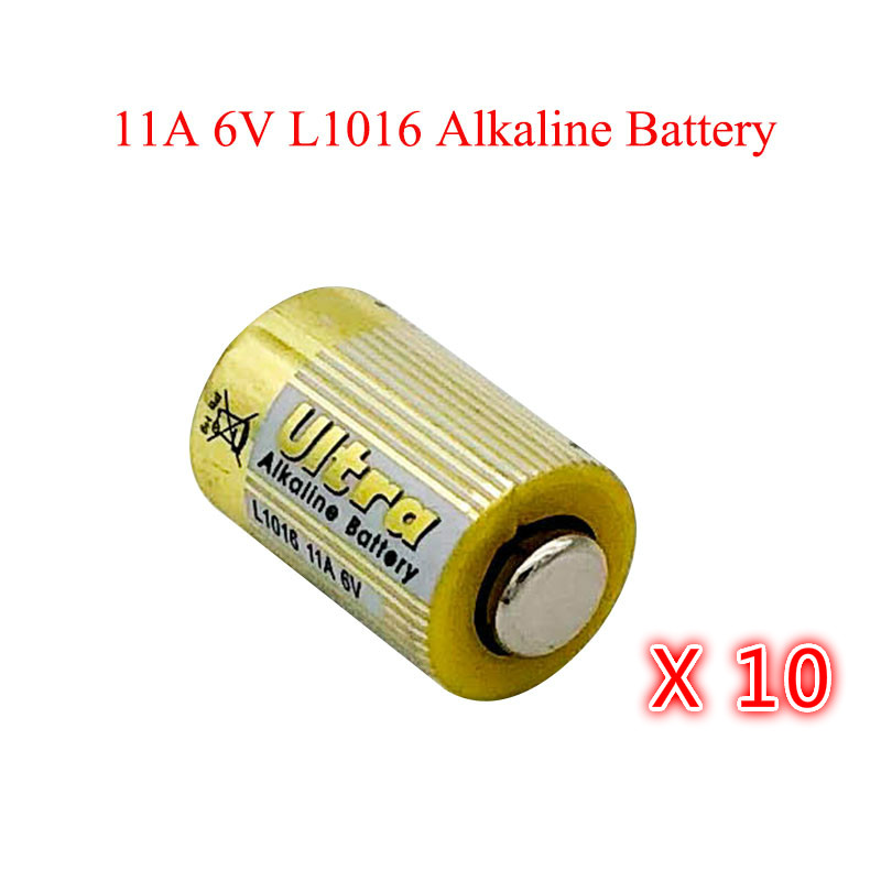 10pcs/lot 11A 6V Primary Dry Batteries L1016 Alkaline Car Key Remote Battery Drop Ship