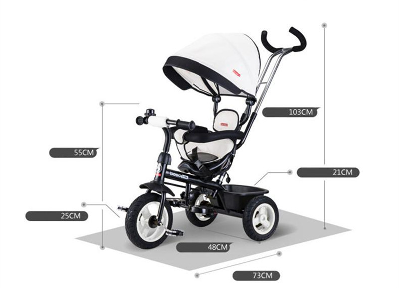 Hot Sell Seat 360 Degrees Rotated Baby Push Baby Stroller Multicolor Child Bike Commutatable Handle Kids Tricycle Free Drop Ship10