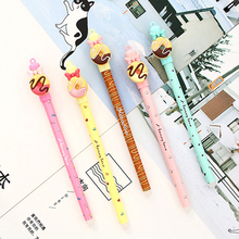 1 Pcs Kawaii Chocolate Donut Bow Erasable Gel Pen 0.5mm Tip Blue Refill Magic Pens Student Stationery Writing Pen Wholesale 3 pcs blue ink erasable pen student stationery writing pen multifunction gel pen 0 5mm tip writing fluently strong quality