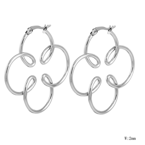 HM-18 Fashion Link Chain Pendat Charm Earring Wholesale Fashion High Quality Stainless Steel Women Earring Girl Gift Jewelry