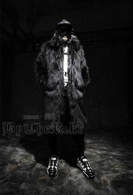 Épaisse Fausse Chaud Parka Coupe Robe 3 Hiver Plue Manteaux Blanc Taille 4xl Manteau 2 Fourrure De Renard En Noir 1 vent Long Luxe Vestes Hommes Xxxl rWQexdCBo