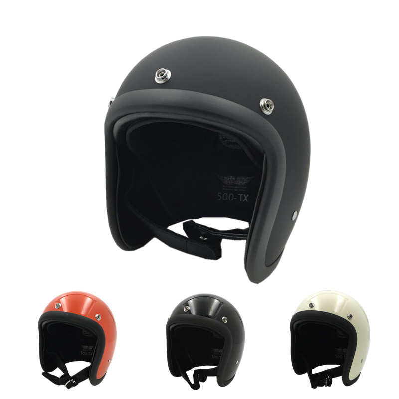 VCOROS For TT CO Open Face Vintage Motorcycle Helmet Chopper Bobber CafeRacer SUPER MAGNUM 500-TX Retro Scooter Jet Helmets