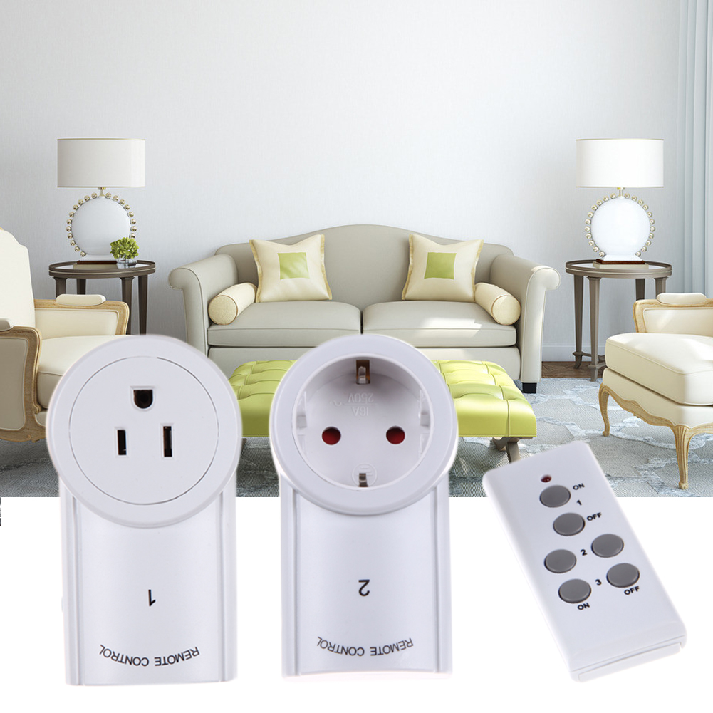 High Quality EU/US 3 Pack Wireless Remote Control Power Outlet Light Switch Plug Socket Smart Remote Switcher Outlet Socket NG4S