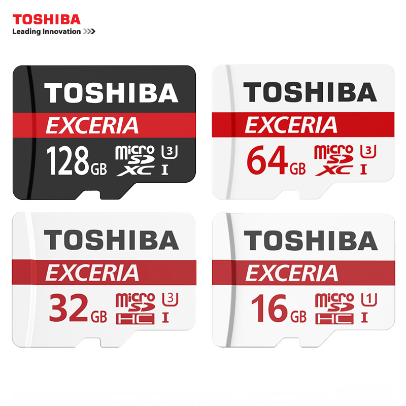 TOSHIBA U3 Memory Card 128GB 64GB SDXC Max UP 90MB/s Micro SD Card SDHC-I 32GB 16G U1 Class10 With package Official Verification