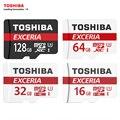 Toshiba cartão de memória de 128 gb 64 gb sdxc u3 max até 90 mb/s micro SDHC-I Cartão SD 32 GB 16G U1 Class10 Com Adaptador de Verificação Oficial