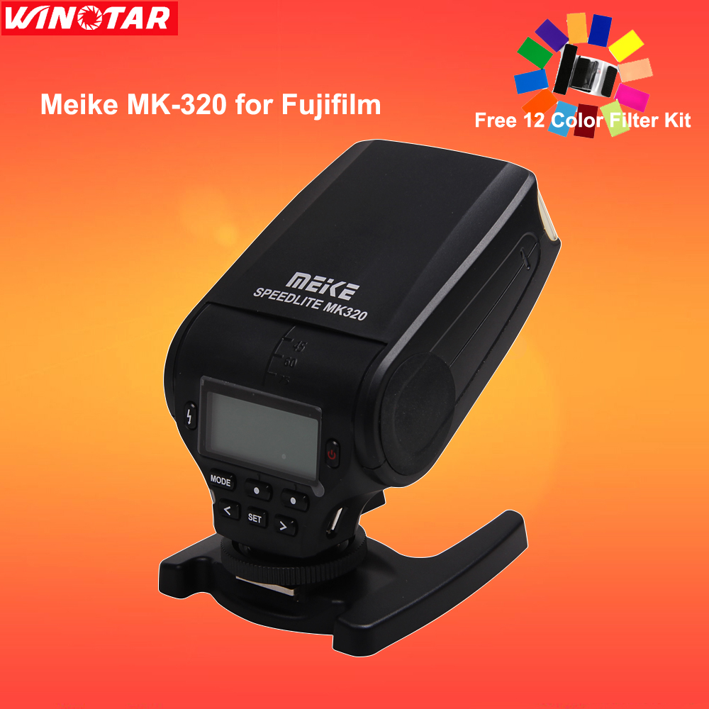 MeiKe MK-320 MK320F TTL mini Flash speedlite For Fujifilm hotshoe m3/4 X-T10 X-PRO1 X100T X100S X-A1 X-E2 X-M1 X-A2 X30 X-E1 mini flash light meike mk320 mk 320 mk320 c gn32 ettl speedlite for can 60d 7d 6d 70d dslr