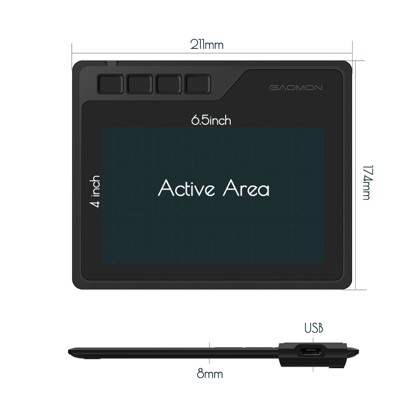 Image 2 - GAOMON S620 6,5x4 дюйма Цифровая ручка планшет аниме графический  планшет для рисования и игр OSU с 8192 уровнями ручка без батареи-in  Цифровой планшеты from Компьютеры и офисная техника on AliExpress