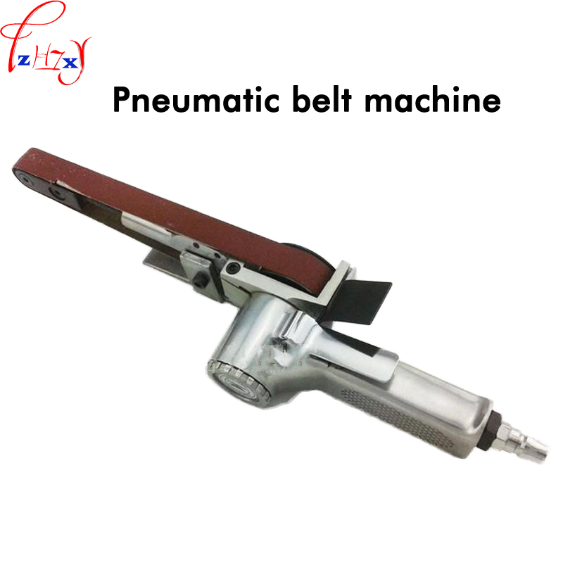 Pneumatic sand belt grinding machine 520 * 20mm abrasive belt polishing machine pneumatic grinder machine 1pc vertical type abrasive belt machine polishing grinding small bench 915 sand belt