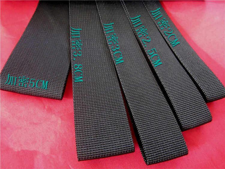 1 adet/grup YT695B Geniş 20-50mm Uzunluk 1 metre Siyah Polipropilen Elyaf Şerit Paketi Şerit Sırt Çantası Kemer Naylon bant