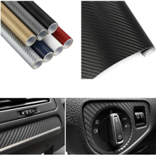 30cmx127cm 3D Carbon Fiber Car Sticker and Decals Styling Motorcycle Film For Accessories 12 Colors
