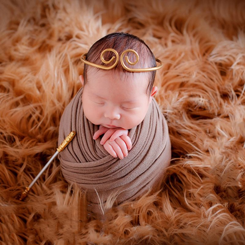 Metal Stick Baby Photography Decoration Props Photo Gold Newborn Photos Kids Children Memorial Accessories Funny Creative Tackle