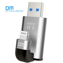 Free shipping DM APD003 USB3.0 128G MFI usb flash drives for iphone for ipad external storage usb flash disk