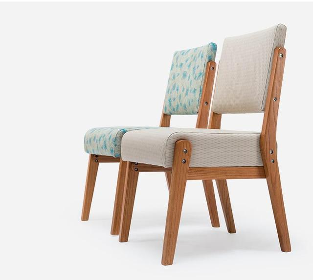 Solid Wood Nordic Dining Chair Sofa Modern Simple Coffee Chairs