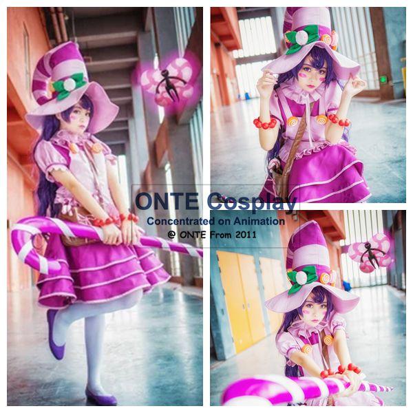 Jeu LoL Cosplay femmes fantaisie robe de soirée LULU sucre sorcière uniformes Cosplay Costumes livraison directe