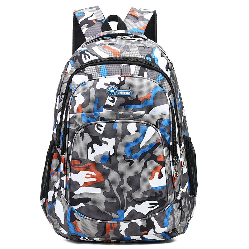 School Backpack Causual Camouflage Men Backpacks Travel Kids Schoolbags For Cool Boy Military School Bags For Teenage Boys Girls