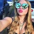 Top Grau de Qualidade Cat Eye Sunglasses Mulheres Marca Designer 2017 Retro Senhora Óculos de Sol Do Espelho Do Vintage Óculos de Sol Para As Mulheres do Sexo Feminino
