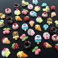24 Pcs 3D de doces de frutas de resina de rosca Studs Nail Art adesivos decoração 6YJV 7H5U