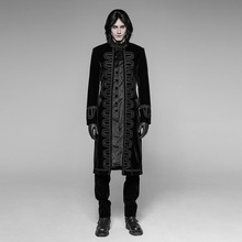 Punk Rave Mens Jackets and Coats Gothic Fashion Victorian Gorgeous Court Coat Goth Clothing Stage Performance Cosplay Costume